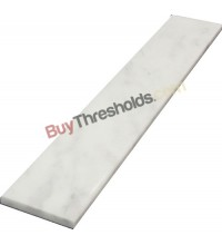 "BIANCO WHITE CARRARA POLISHED MARBLE THRESHOLD 4.5""x48""x3/4"" -Standard BEVEL with bevel only 1 side"