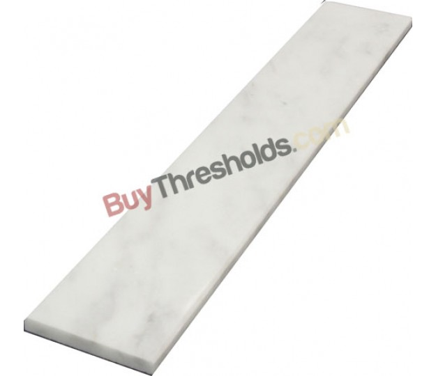 "Carrara Threshold: Bianco White Carrara Polished Marble Threshold 4""x36""x3/4"
