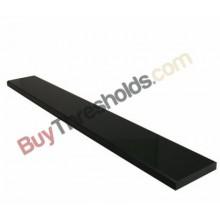 "Black Absolute Granite Threshold Polished 4""x36""x3/4"" - Standard Bevel"